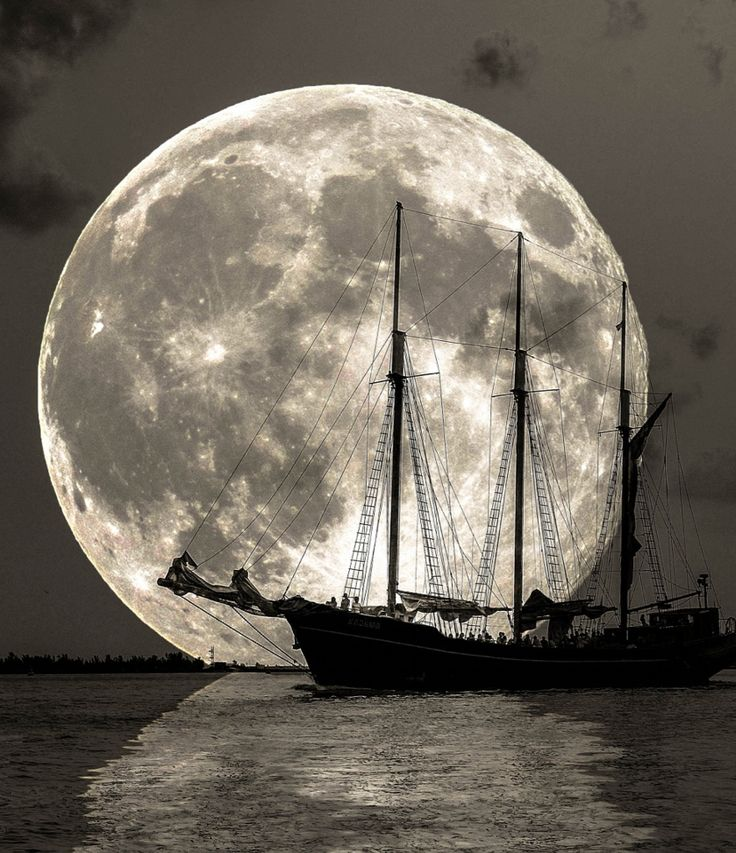 Moon Sailing by Zacks Cai