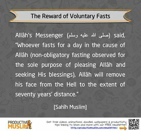 Reward for voluntary fasts