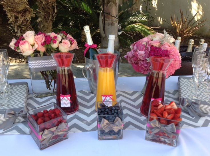 Champagne bar for baby shower