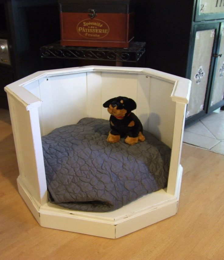 Upcycled wood shabby chic distressed pet bed by for Schon diy shabby chic pet bed