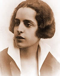 Maria Polydouri  (1902 – 1930) was a Greek poet. She was born in Kalamata. She was a contemporary of Kostas Karyotakis, with whom she had a desperate but incomplete love affair. Although she wrote poetry from at an early age, her most important poems were written during the last four years of her life, when, suffering from consumption, she was secluded in an Athens sanatorium.  http://www.youtube.com/watch?v=phwOIi7qJHk