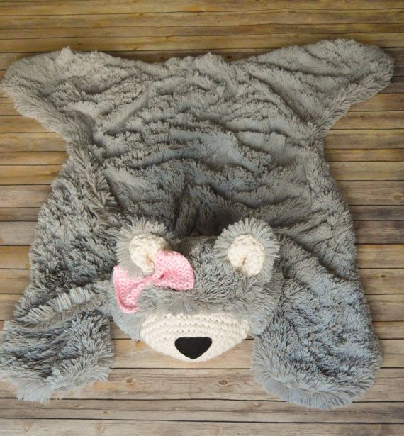 Nursery Rug Super Soft Bear Rug Plush rug by ClaraLoo on Etsy
