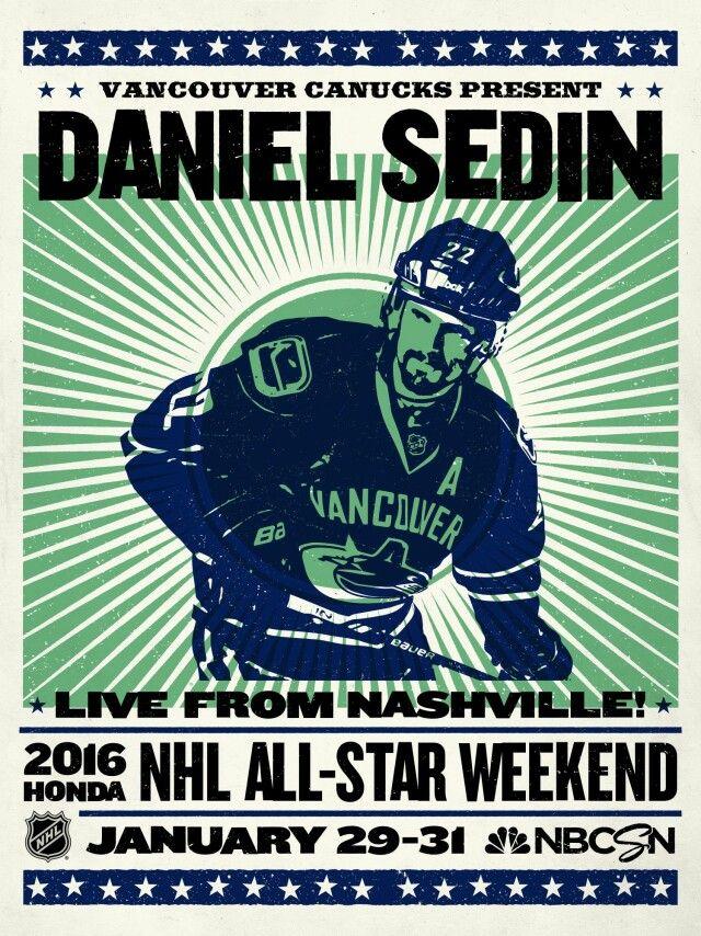 Daniel Sedin Vancouver Canucks NHL All-Star game 2016