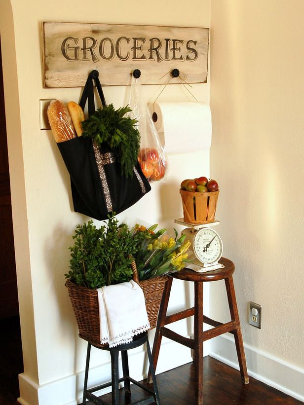Antiqued signage brings a warmth and style that says home