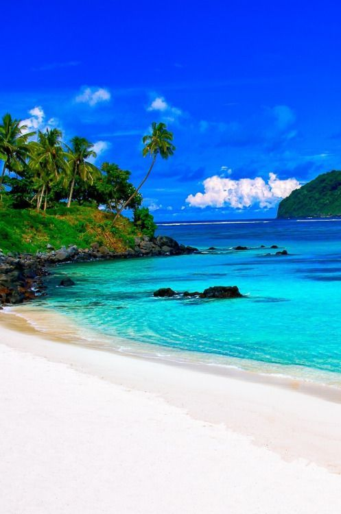Samoa Travel Inspiration - Lalomanu beach on the east coast of Upolu island in Samoa. (Paradise Found by Susan Blick)