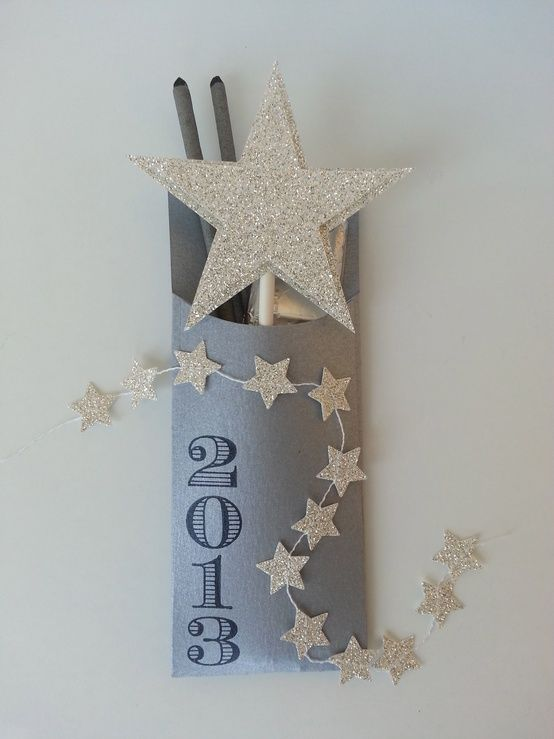 I found this on stampinup.com  Cute idea for a NYE party - I could see it as a wedding favour too.