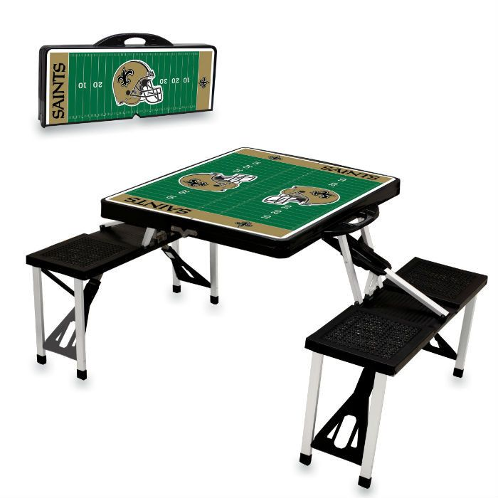 Use this Exclusive coupon code: PINFIVE to receive an additional 5% off the New Orleans Saints Black Portable Picnic Table at SportsFansPlus.com