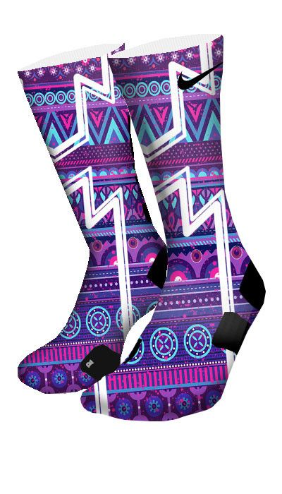 Featuring a cool purple pattern and cut-in white lines. This pair is available in Elite and CES Customs.