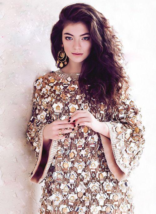 Lorde - Muito mais bonita do que com aquele batom uva que ela sempre usa u.u