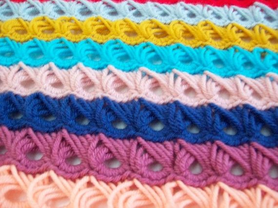 Free Crochet pattern for BROOMSTICK LACE -  made using a large knitting needle or broomstick to make the loops! Crochet Club