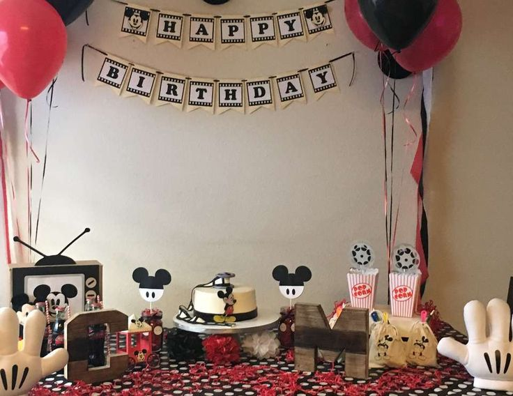 Christopher and Matthew's vintage mickey party