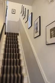 narrow hallway designs - Like the simplicity - in our stairwell would rather have mirror at top because of ceiling slope