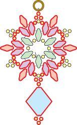 Deb Roberti's free Snowflake earring pattern - more superduos. #Seed #Bead #Tutorials