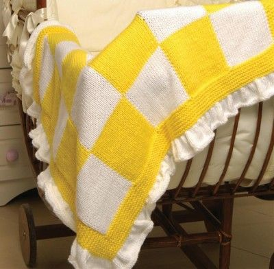 Checkerboard Knitting Pattern Blanket : Free Universal Yarn Pattern : Checkerboard Blanket ...