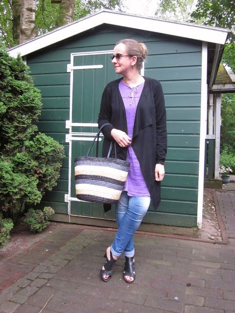 Fashion translated: Outfit: A new interpretation of my purple dress, b...