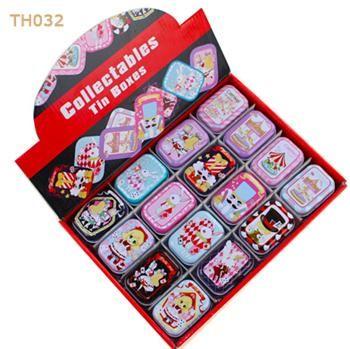Cajas plastico New Arrival Cute Macaroon Cookie Shape Candy Color Mini Storage Box Jewelry Box Tin box