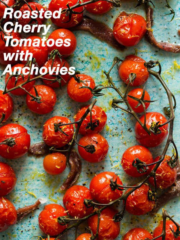 Roasted Cherry Tomatoes with Anchovies | 30 Delicious Things To Cook In September