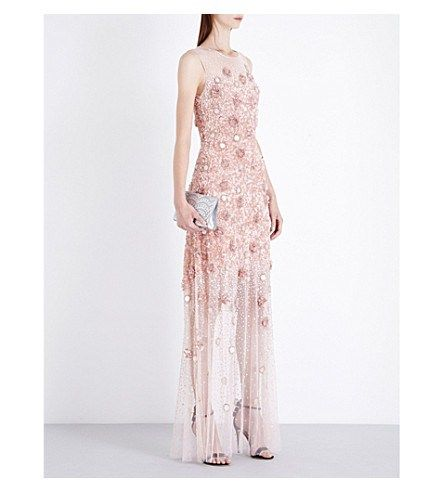 JENNY PACKHAM Sleeveless crystal-embellished gown dressing for the holidays christmas new years help outfits OOTD OOTN how to wear glitter sparkle ideas