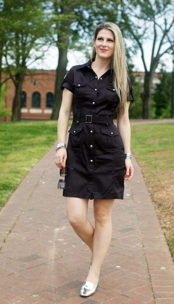 Spring inspiration by TeodorasLookbook.com; black safari dress