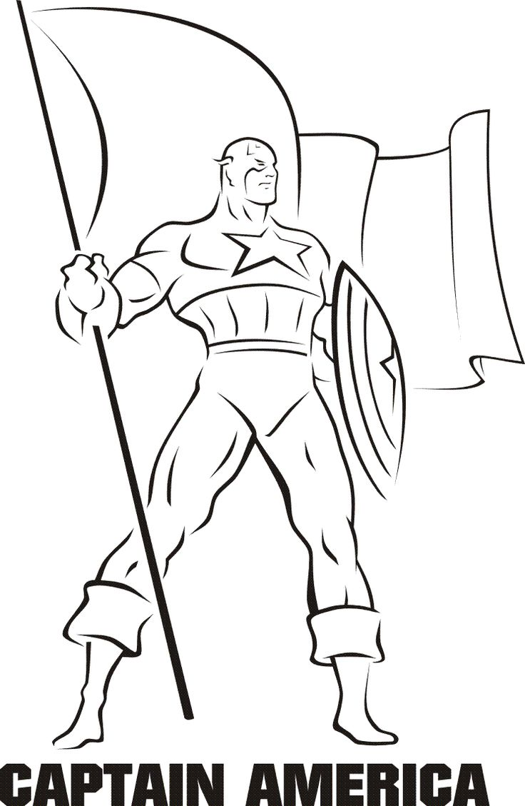 Free coloring pages wonder woman - Captain America Coloring Pages Free Google Search