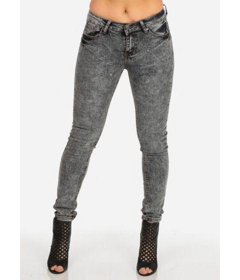 Promotie • Imbracaminte Femei CheapChic Grey Wash Mid Rise Slim Fit Super Skinny Jeans Multicolor