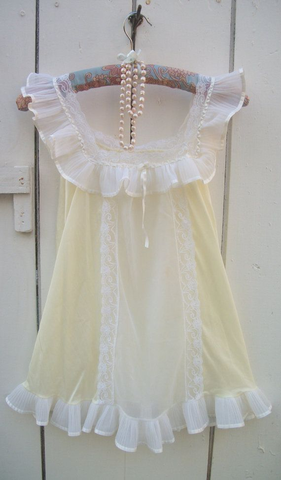 Vintage Mad Men  Gorgeous Chiffon Nightgown by VintageSoulWear, $20.00