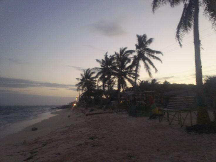 Atardecer en las playas de san Luis.