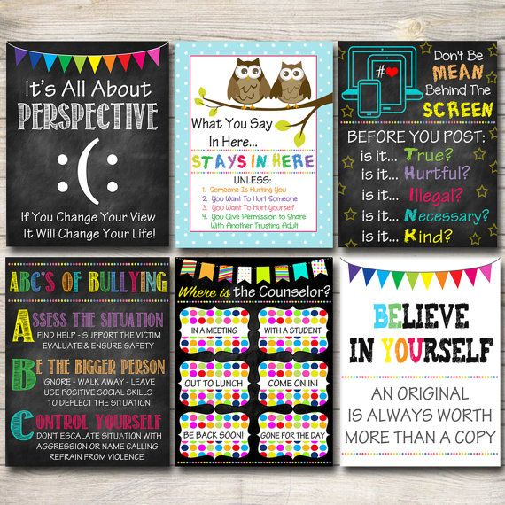 School Counselor Posters Where is the by TidyLadyPrintables
