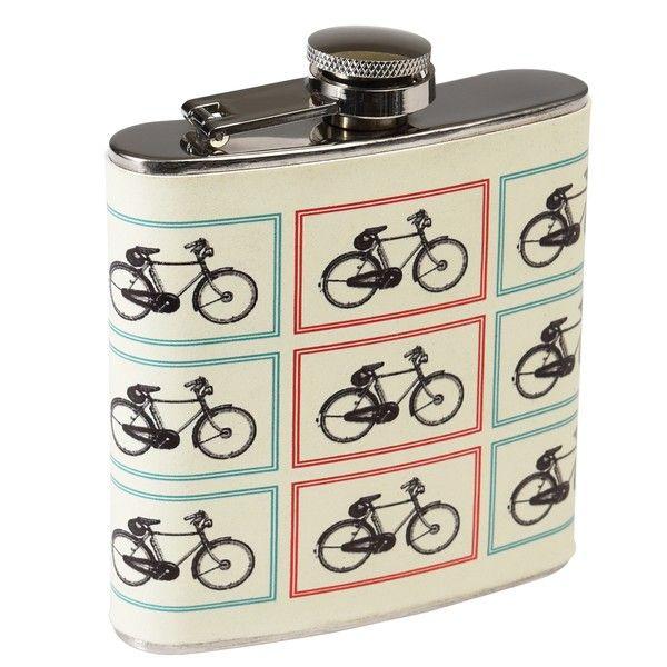 Nerezová placatka Rex London Bicycle