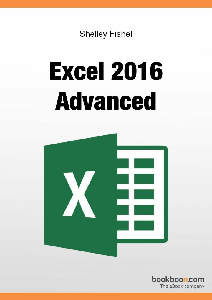 Excel 2016 Advanced Book available on Bookboon  This user guide will introduce you to some of Excel's more complex functionality. Specifically when analysing data.