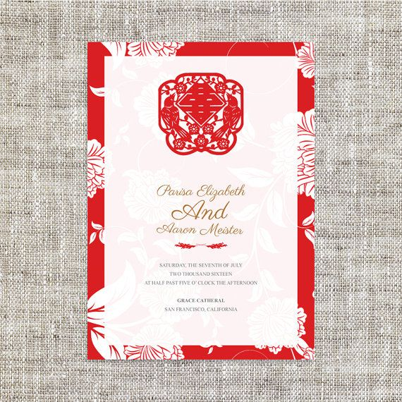 Best Chinese Wedding Invitation Card Ideas On Pinterest - Birthday invitation cards singapore