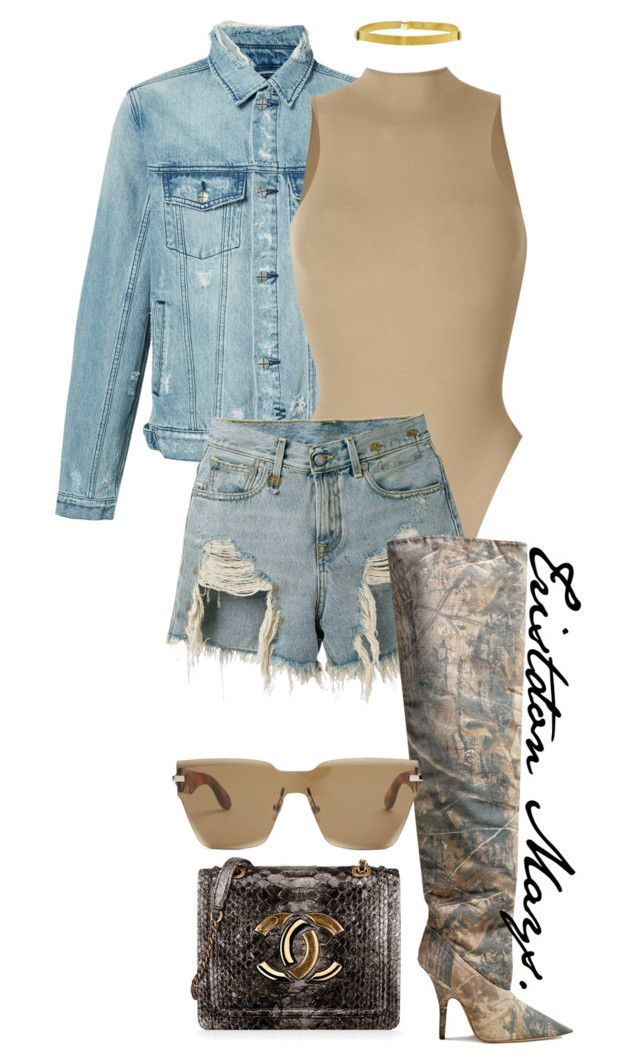 """""""These Are My Play Clothes."""" by monroestyles ❤ liked on Polyvore featuring Ksubi, Yeezy by Kanye West, R13, Chanel and Givenchy"""