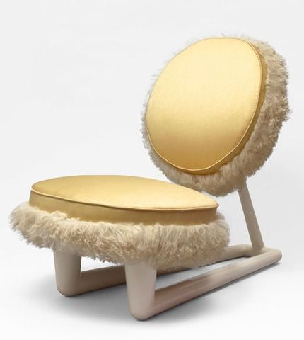 Jean Royère; Lacquered Wood Chair, c1950.