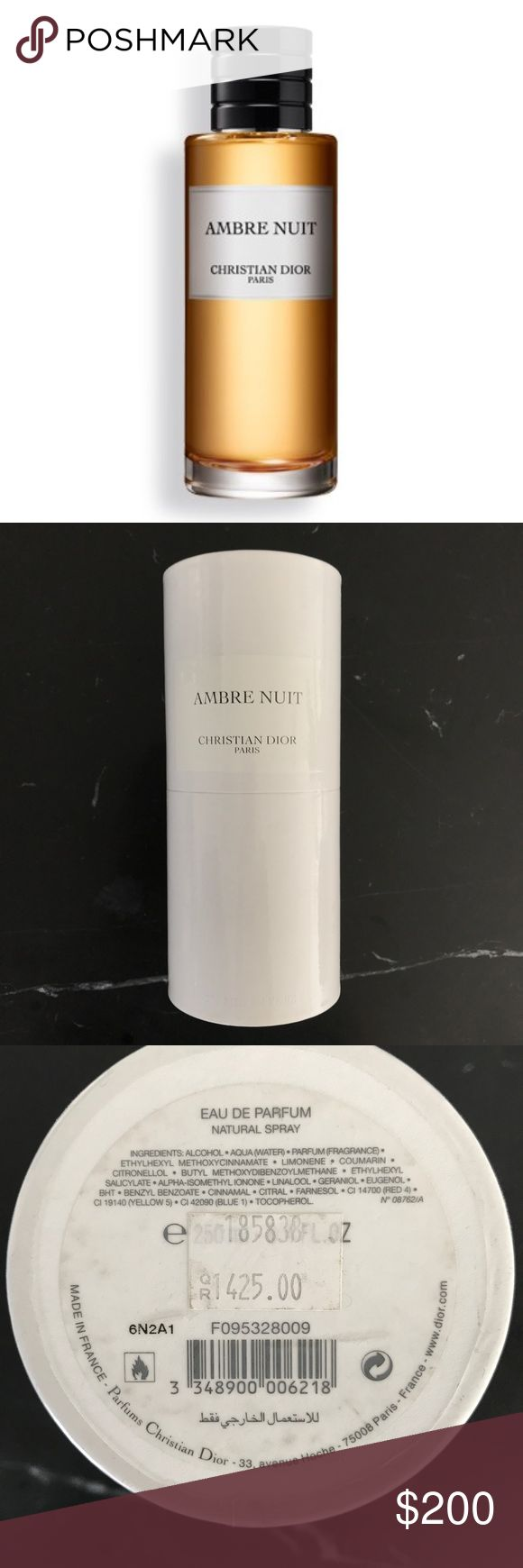 Ambre Nuit Dior Eau de Parfum Private Collection Beautiful, sensual, and characteristic Christian Dior fragrance from the private collection, sealed packaging, 8.5 oz (250ml) Dior Other