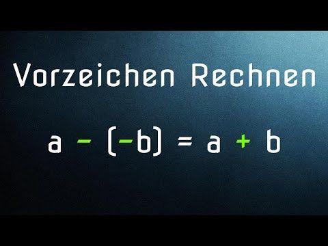 Rechnen mit Vorzeichen - Addition und Subtraktion (G06-1) - YouTube