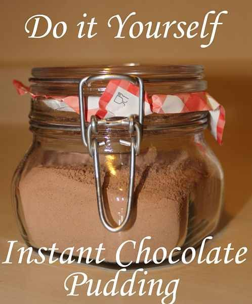 Do it Yourself Instant Choclate Pudding! YUM! (How neat is this!)