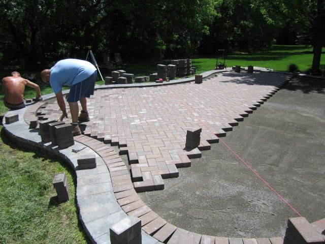 Brick Paver Patios Elevated Pavers Patio Is Red Redesigned And Upgraded From Landscape Pinterest
