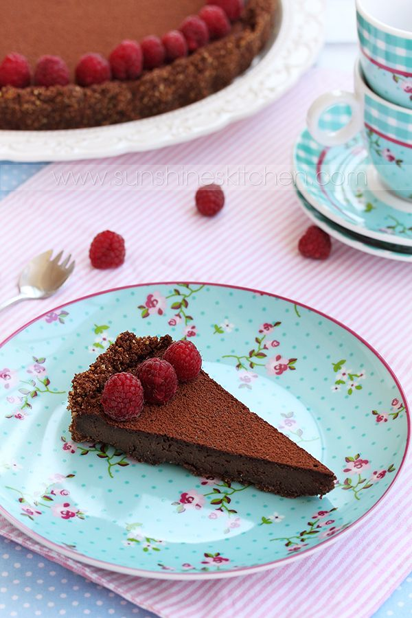 hazelnut chocolate tart