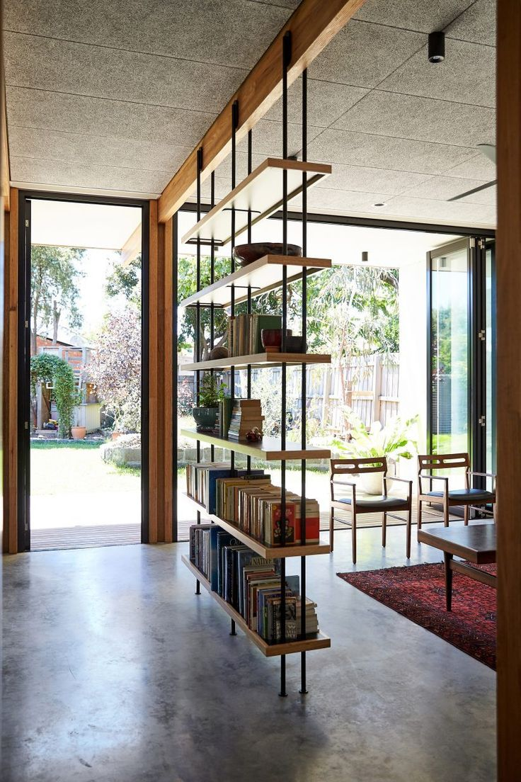 interior design of bungalow houses%0A This singlestorey house in Melbourne has been renovated by local studio  Foomann to include exposed wooden beams that span the entirety of the  property