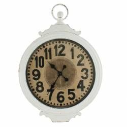 Antique Metal Cream Clock