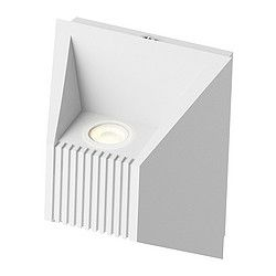 Light directed both upwards and downwards. The LED light source consumes up to 85% less energy and lasts 20 times longer than incandescent bulbs.
