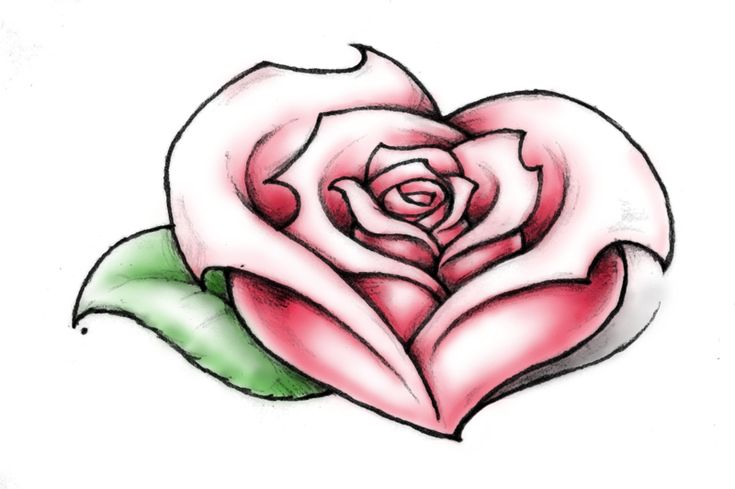 31 best Heart Shaped Rose Tattoo images on Pinterest | Rose tattoos, Artist and Artists