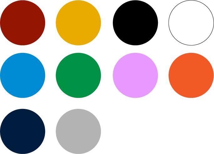 Paleta de colores de Etnia Han