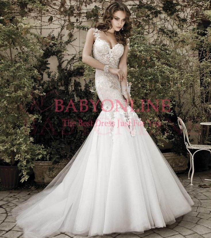 2014 Sexy Mermaid Backless Wedding Dresses Sweetheart