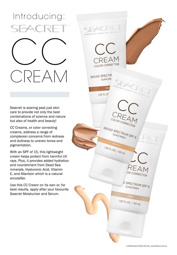 Seacret CC Cream Follow Our products here www.facebook.com/SeacretAgentBeyondCosmetics