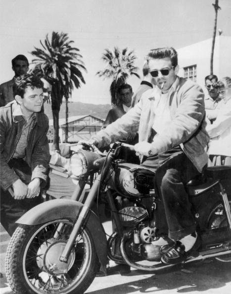 James Dean.  motorcycle.  cool