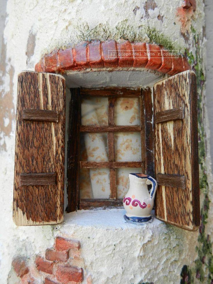 Mulino ad acqua (particolare) Tegole antiche decorate e dipinte a mano www.coppobuonricordo.it