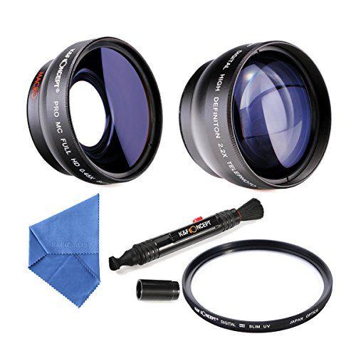 K&F Concept® 58mm Slim MCUV Filter Super Weitwinkelkonverter 0.45x Professionell HD Weitwinkel Objektiv Vorsatz mit Makrolinse 2.2X Telephoto Lens Teleobjektiv mit Reinigungstuch Reinigungspinsel für Canon Rebel T5i T3i XTi XS T4i T2i XT SL1 T3 T1i XSi EOS 1000D 600D 450D 100D 650D 700D 550D 400D 500D 300D 1100D and Nikon D7100 D5100 D3100 D300 D90 D70s D40x D3X D7000 D5000 D3000 D300S D80 D60 D3 D5200 D3200 D700 D200 D70 D40 D3S…