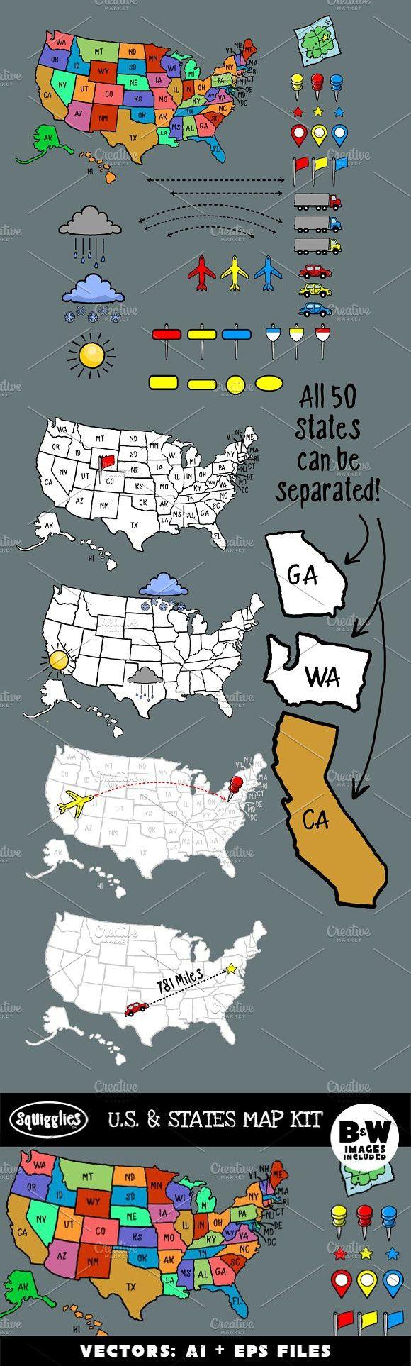 US u0026 States Map Kit 29 best