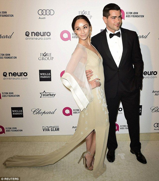 Also attending: Actor Jesse Metcalfe and girlfriend Cara Santana entered arm-in-arm...